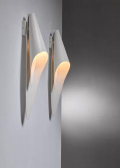 Harald Notini Pair of Bohlmarks metal wall lamps - 1554902