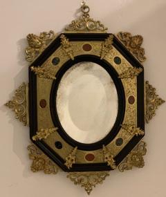 Hard stone and Gilded Ebony Mirror - 1021936