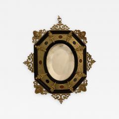 Hard stone and Gilded Ebony Mirror - 1023301
