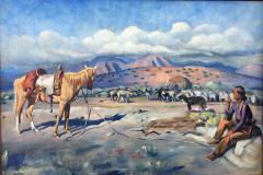 Harold Harrington Betts Navajo Man with his Horse - 1606868
