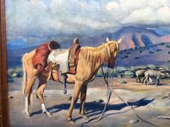 Harold Harrington Betts Navajo Man with his Horse - 1606870