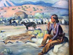 Harold Harrington Betts Navajo Man with his Horse - 1606871