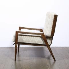 Harold M Schwartz Pair of Mid Century Modern Oak Lounge Chairs by Harold Schwartz for Romweber Co  - 2143270