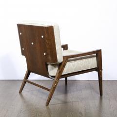Harold M Schwartz Pair of Mid Century Modern Oak Lounge Chairs by Harold Schwartz for Romweber Co  - 2143274