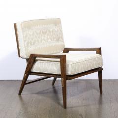 Harold M Schwartz Pair of Mid Century Modern Oak Lounge Chairs by Harold Schwartz for Romweber Co  - 2143276
