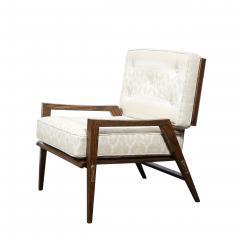 Harold M Schwartz Pair of Mid Century Modern Oak Lounge Chairs by Harold Schwartz for Romweber Co  - 2143309