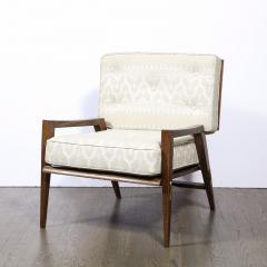 Harold M Schwartz Pair of Mid Century Modern Oak Lounge Chairs by Harold Schwartz for Romweber Co  - 2143325
