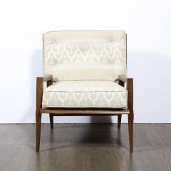 Harold M Schwartz Pair of Mid Century Modern Oak Lounge Chairs by Harold Schwartz for Romweber Co  - 2143327