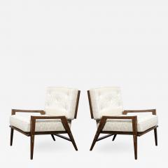 Harold M Schwartz Pair of Mid Century Modern Oak Lounge Chairs by Harold Schwartz for Romweber Co  - 2144754