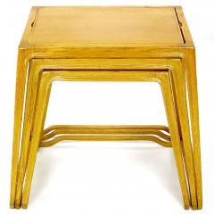Harold M Schwartz Trio of Harold Schwartz White Oak Nesting Tray Tables for Romweber - 82401