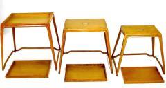 Harold M Schwartz Trio of Harold Schwartz White Oak Nesting Tray Tables for Romweber - 82405