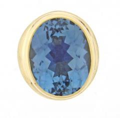 Haroldo Burle Marx Burle Marx Oval Blue Topaz Ring - 457783