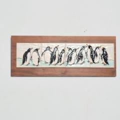 Harris Strong Harris G Strong Penguin Tile Wall Art Plaque Midcentury Modern - 1434448