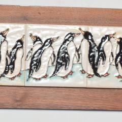 Harris Strong Harris G Strong Penguin Tile Wall Art Plaque Midcentury Modern - 1434452