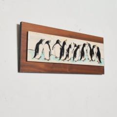 Harris Strong Harris G Strong Penguin Tile Wall Art Plaque Midcentury Modern - 1434454