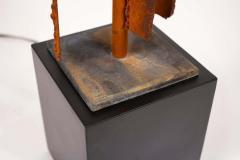 Harry Balmer Harry Balmer Abstract Sculpture Lamps in Oxidized Corten Steel for Laurel 1960s - 1695316