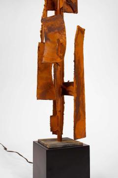 Harry Balmer Harry Balmer Abstract Sculpture Lamps in Oxidized Corten Steel for Laurel 1960s - 1695318