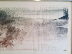 Harry Bertoia Early Harry Bertoia Monoprint Pencil Signed on Verso - 194969