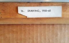Harry Bertoia Early Harry Bertoia Monoprint Pencil Signed on Verso - 194970