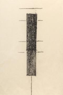 Harry Bertoia Framed Monotype on Rice Paper - 1233118