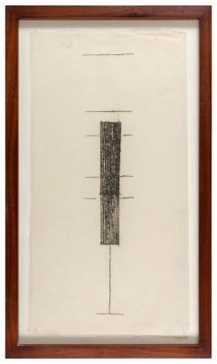 Harry Bertoia Framed Monotype on Rice Paper - 1233120