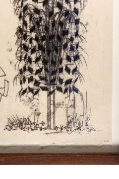 Harry Bertoia Framed Monotype on Rice Paper - 1500061