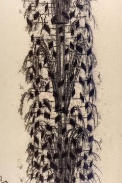 Harry Bertoia Framed Monotype on Rice Paper - 1500064