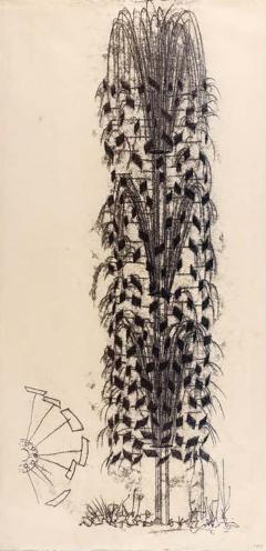 Harry Bertoia Framed Monotype on Rice Paper - 1500493