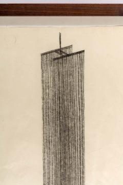 Harry Bertoia Framed Monotype on Rice Paper - 1500075