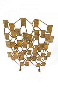 Harry Bertoia Harry Bertoia Brass Melt Coated Multi Plane Panel Sculpture - 2140984