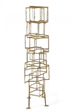 Harry Bertoia Harry Bertoia Brass Melt Coated Multi Plane Panel Sculpture - 2140985