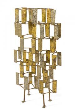 Harry Bertoia Harry Bertoia Brass Melt Coated Multi Plane Panel Sculpture - 2140986