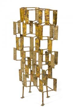 Harry Bertoia Harry Bertoia Brass Melt Coated Multi Plane Panel Sculpture - 2140987