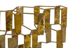 Harry Bertoia Harry Bertoia Brass Melt Coated Multi Plane Panel Sculpture - 2140989