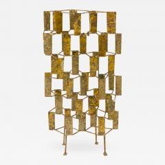 Harry Bertoia Harry Bertoia Brass Melt Coated Multi Plane Panel Sculpture - 2144821