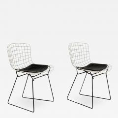 Harry Bertoia Harry Bertoia Childs Chairs in White with Original Knoll Seat Pads USA 1960s - 1605352