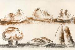 Harry Bertoia Harry Bertoia Framed Monoprint on Rice Paper - 1909459