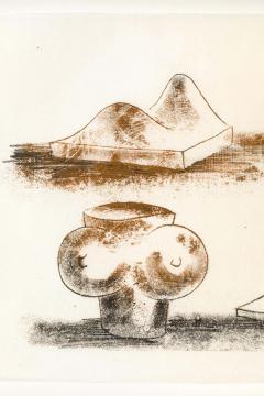 Harry Bertoia Harry Bertoia Framed Monoprint on Rice Paper - 1909462
