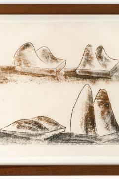 Harry Bertoia Harry Bertoia Framed Monoprint on Rice Paper - 1909463