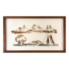 Harry Bertoia Harry Bertoia Framed Monoprint on Rice Paper - 1909465