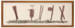 Harry Bertoia Harry Bertoia Framed Monoprint on Rice Paper USA 1960s - 1631281
