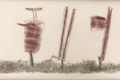 Harry Bertoia Harry Bertoia Framed Monoprint on Rice Paper USA 1960s - 1631282