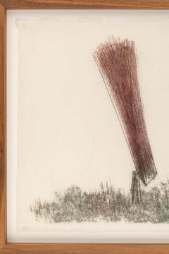 Harry Bertoia Harry Bertoia Framed Monoprint on Rice Paper USA 1960s - 1631283