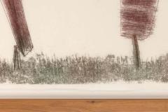 Harry Bertoia Harry Bertoia Framed Monoprint on Rice Paper USA 1960s - 1631287
