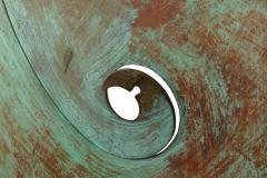 Harry Bertoia Harry Bertoia Patinated Solid Bronze Gong Sculpture - 1168943