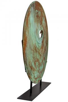 Harry Bertoia Harry Bertoia Patinated Solid Bronze Gong Sculpture - 1168946