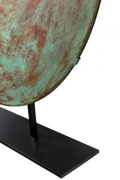 Harry Bertoia Harry Bertoia Patinated Solid Bronze Gong Sculpture - 1168947