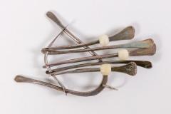 Harry Bertoia Harry Bertoia Sculptural Kinetic Handcrafted Silver Jewelry Pendant USA 1940s - 708807