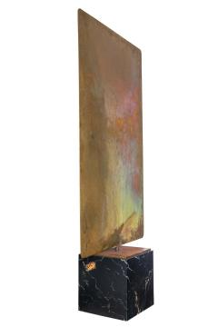 Harry Bertoia Harry Bertoia Silicon Bronze Brass Hollow Gong on Wood Base with Mallet 1972 - 1835496