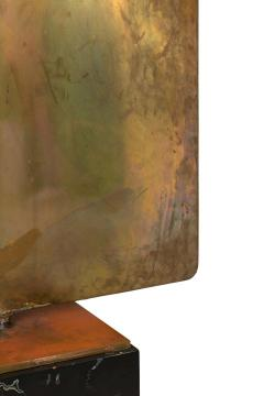 Harry Bertoia Harry Bertoia Silicon Bronze Brass Hollow Gong on Wood Base with Mallet 1972 - 1835497
